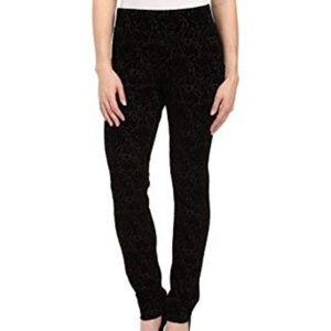 NYDJ joanie skinny velvet flocked pants